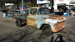 1956 Chevy 3600 flatbed truck before restoration