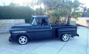 1959 Apache truck in driveway ready to cruise.