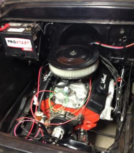 Rebuilt 350 engine re-installed in 1959 Apache truck