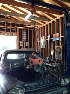 Hoisting 350 engine from 1959 Chevy truck