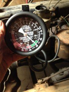 Chevrolet 235 six manifold vacuum test result