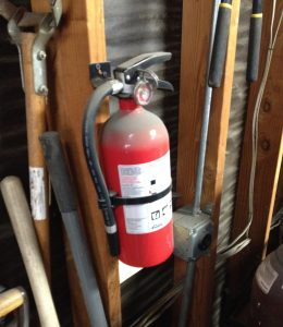 Fire extinguisher should be a fixture in every shop