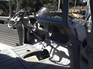 Interior of 1956 Chevrolet truck sandblasted