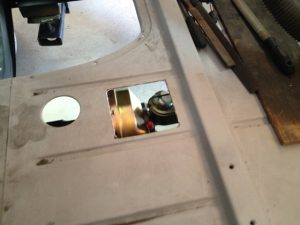 Master cylinder access hole relocated for CPP 5559BBD brake booster