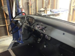 dashboard completed on our 1956 Chevy truck