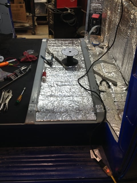 sound deadener installed in cab