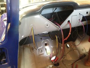 wires sorted out for the dashboard section